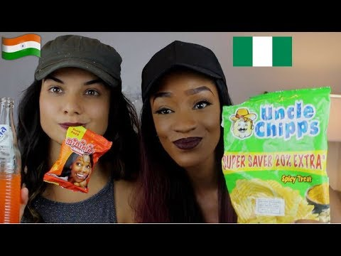INDIAN GIRL TRIES OUT NIGERIAN SNACKS