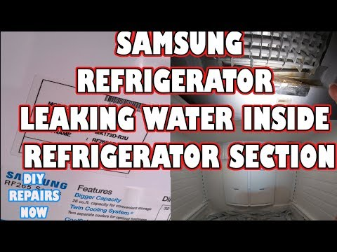 How to Fix Samsung French Door Refrigerator Leaking Water Inside | VERY COMMON! |Model RF265ABBP