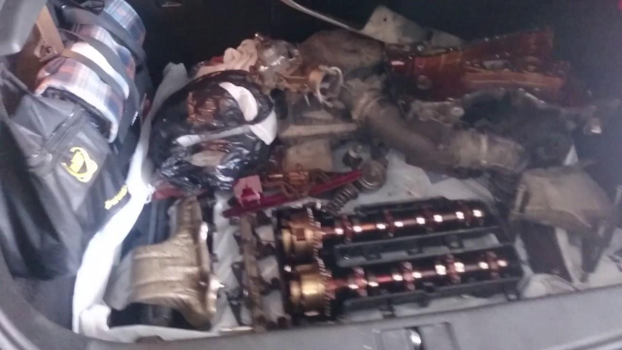 Снятие и разборка двигателя  Opel Astra J, поршень стек в паддон.