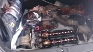 Снятие и ремонт двигателя  Opel Astra J, растянулась цепь ГРМ, замена, капремонт двигателя