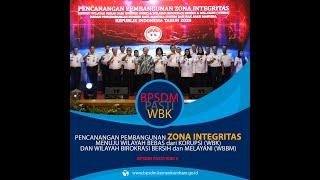 Pencanangan Zona Integritas Menuju WBK BPSDM Hukum dan HAM
