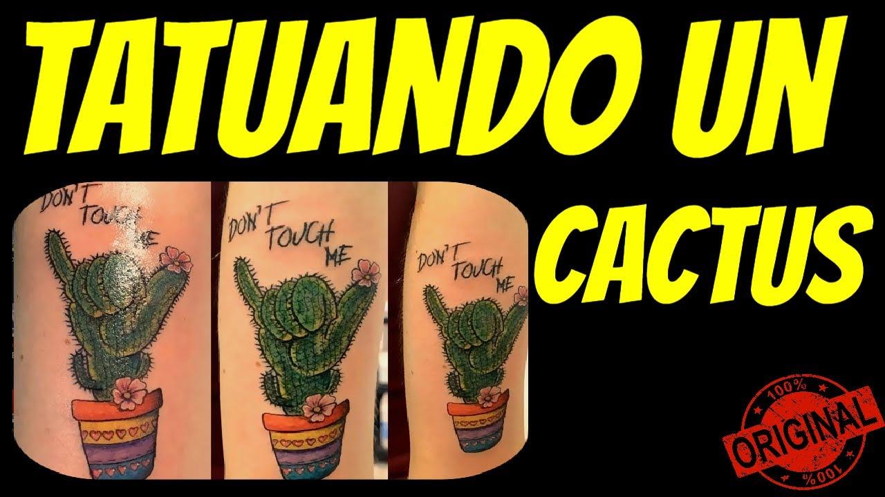 PASO  a PASO como TATUAR un CACTUS a COLOR ( Tattoo Fort )