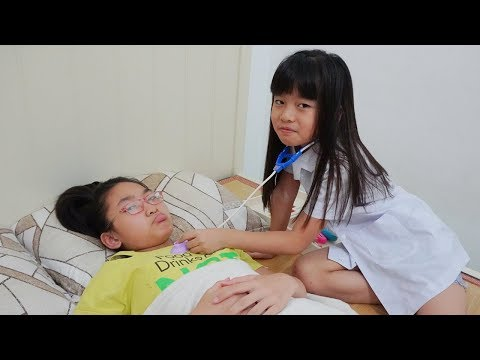 LaLa Pretend Play with doctor toys 😢 Indoor Playground for Kids 💖 Funny Video for children