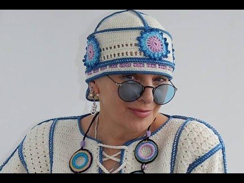 вязаные шапки экстравагантные Razpetelkaru