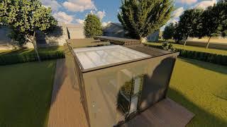 Cube half & half roof
