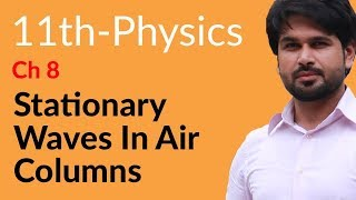 First Year Physics, Ch 8 - Stationary Waves in Air Columns - FSc Physics Book 1