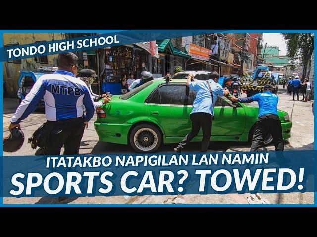 SPORTS CAR NAUNA PA SA DRIVER TUNGONG IMPOUNDING