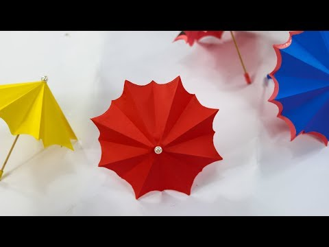 How to make a paper Umbrella that open and close - Very Easy || Nusrat DIY Crafts