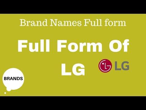 Full Form Of LG