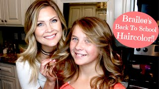 Natural Ombre Haircolor!! Brailee's Back To School Haircolor!!