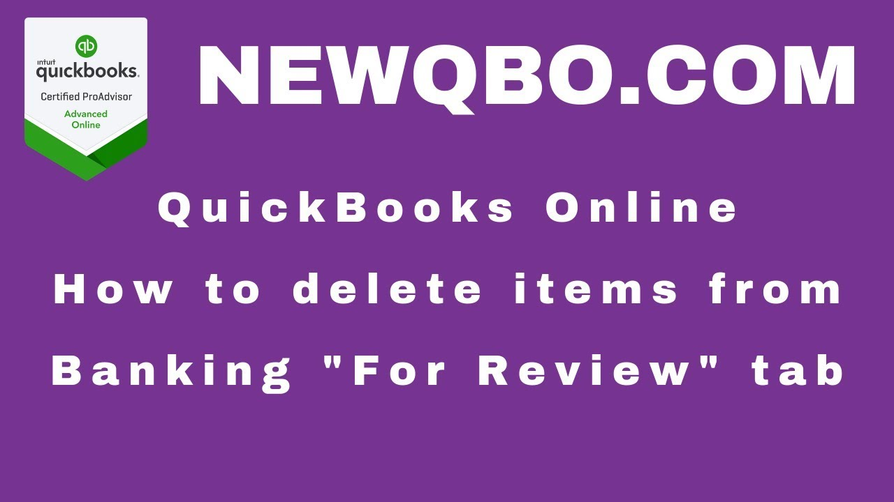 How to delete downloaded items from Banking For Review tab