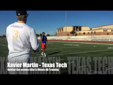 Yale Vannoy Quarterback Academy - Xavier Martin - Behind the scenes Elite11/Rivals QB Training