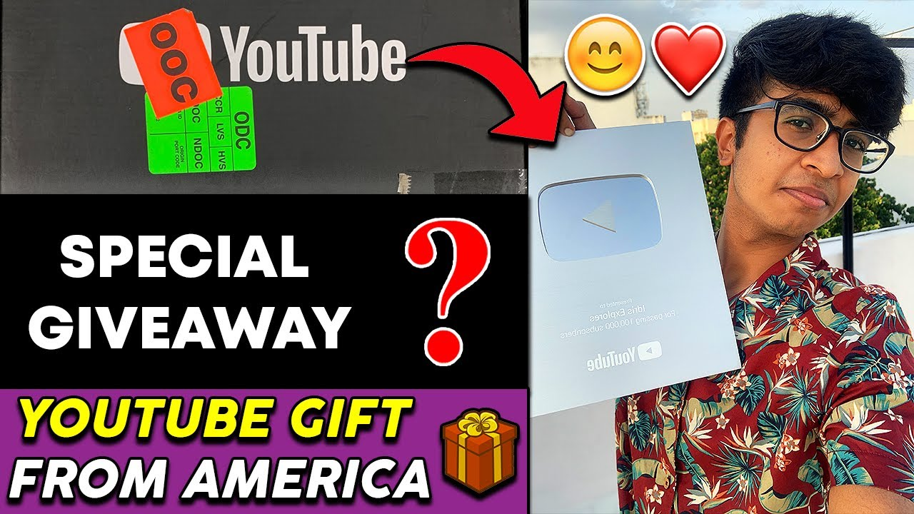 YouTube sent us a GIFT from America 🇺🇸  - Silver Play Button⭐️😍 | & Kutty Giveaway | Idris Explores