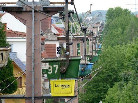Mit der Materialseilbahn von HeidelbergCement von Nußloch nach Leimen (Final)