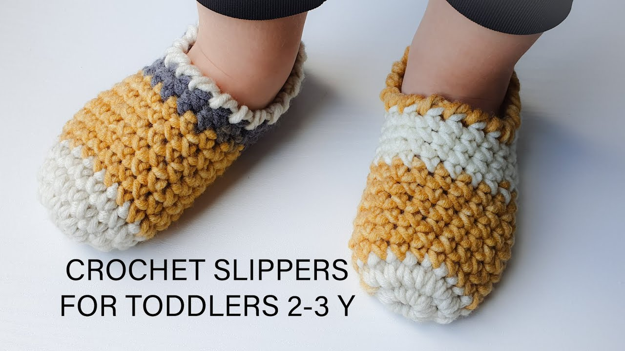 CROCHET SLIPPERS FOR TODDLERS /EASY/FAST /SUPER CUTE