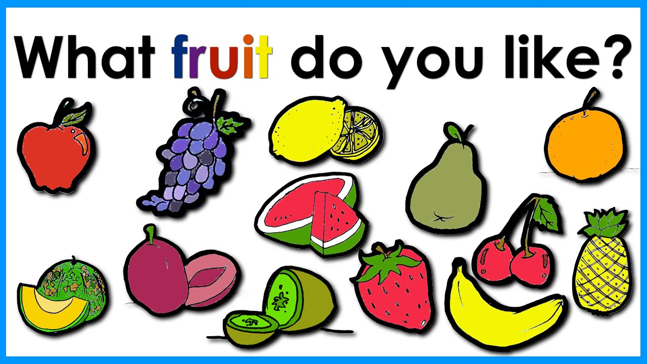 Fruit vocabulary easy english practice esl youtube for What color do you like