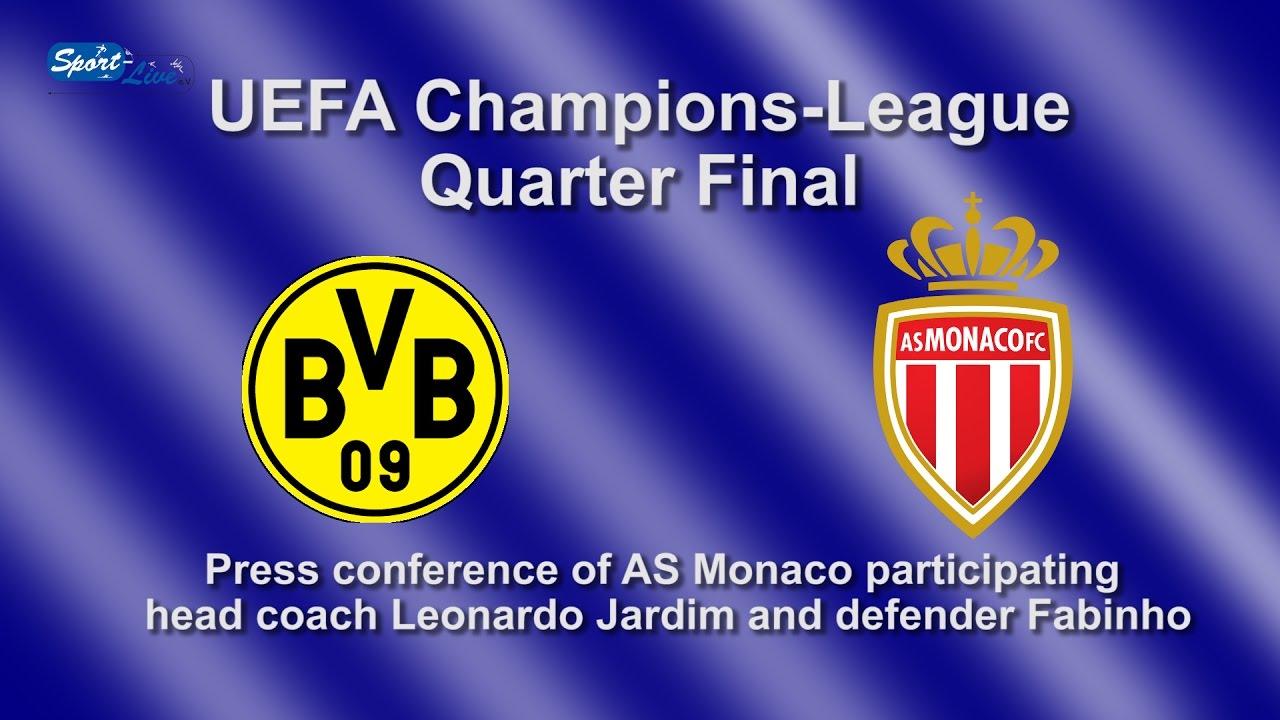 Borussia Dortmund - AS Monaco: Pk mit Leonardo Jardim und Fabinho