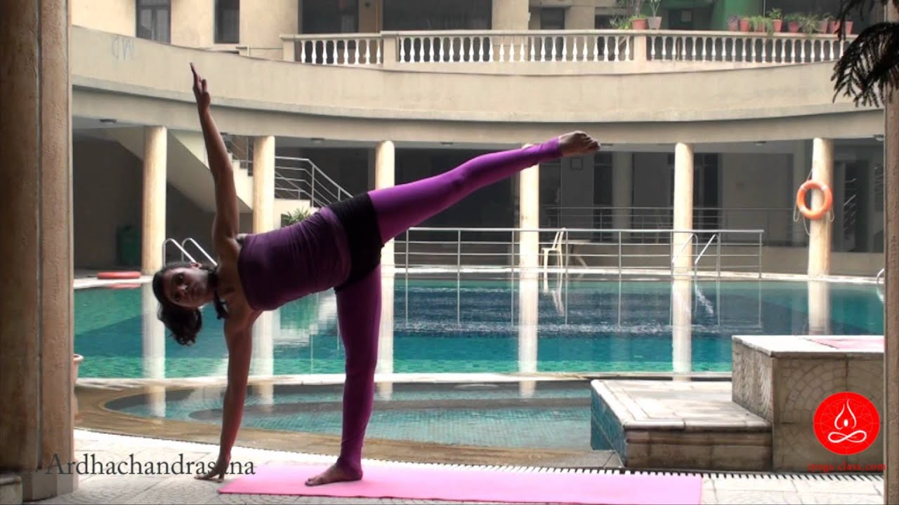 Ardha Chandrasana, Half moon pose, Yoga for Beginners ...