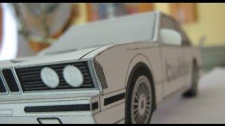 Оригами. Как сделать крутую машину из бумаги.