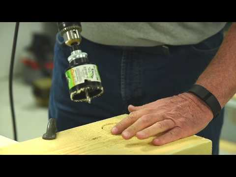 How to cut a perfect hole in wood using a hole saw by EAB
