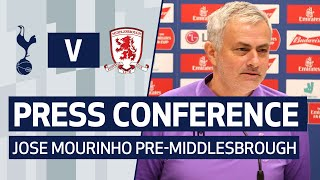 PRESS CONFERENCE | JOSE MOURINHO PREVIEWS MIDDLESBROUGH CUP REPLAY