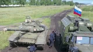 Сборная Вооруженных Сил России быстрее всех подняла танк на конкурсе «Рембат»