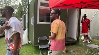 Bankulli OSHA Back Stage Shenanigans Maleek Berry Geko Eugyofficial At Wireless Festival