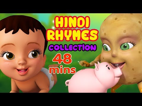 Aloo Kachaloo New kids video collection  | Hindi Rhymes for Children | Infobells