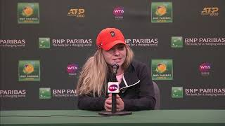 Simona Halep 4R Post-Match Interview at the BNP Paribas Open