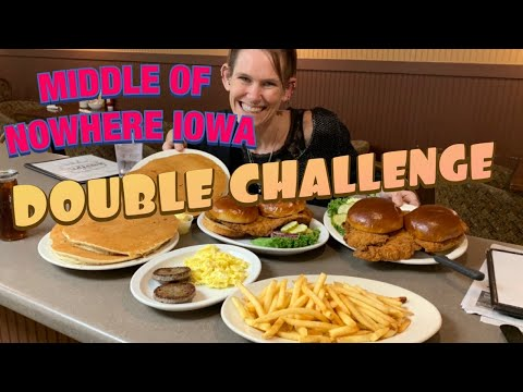 IOWA DOUBLE DINER CHALLENGE | MEGA MOLLY | UNSINKABLE | CONSTRUCTIVE EATING | MASSIVE MULTITASKING