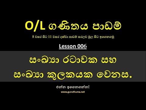 Ordinary Level Mathematics Tutorial - 006 | O/L Maths Lessons in Sinhala by guruthuma.net thumbnail