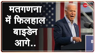 President donald trump and democratic challenger joe biden are face-to-face for the white house slowly approaching results with counting. cur...