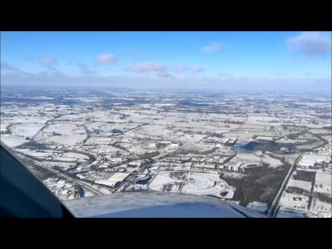 Cessna 340 landing at a beautiful and snowy Lexington KY 2014