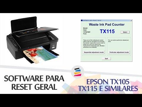 Epson TX130, TX133, TX135 - Software de Ajuste e Reset Epson / Printer  Adjustment Software and Reset Software