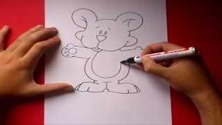 Como dibujar un oso de peluche paso a paso | How to draw a teddy bear