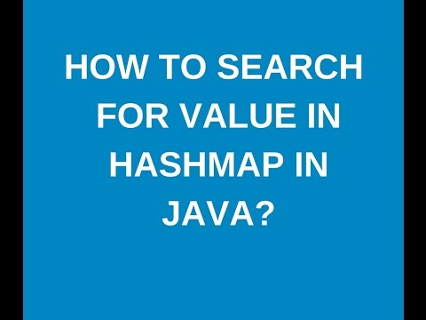 How to search for a value in HashMap