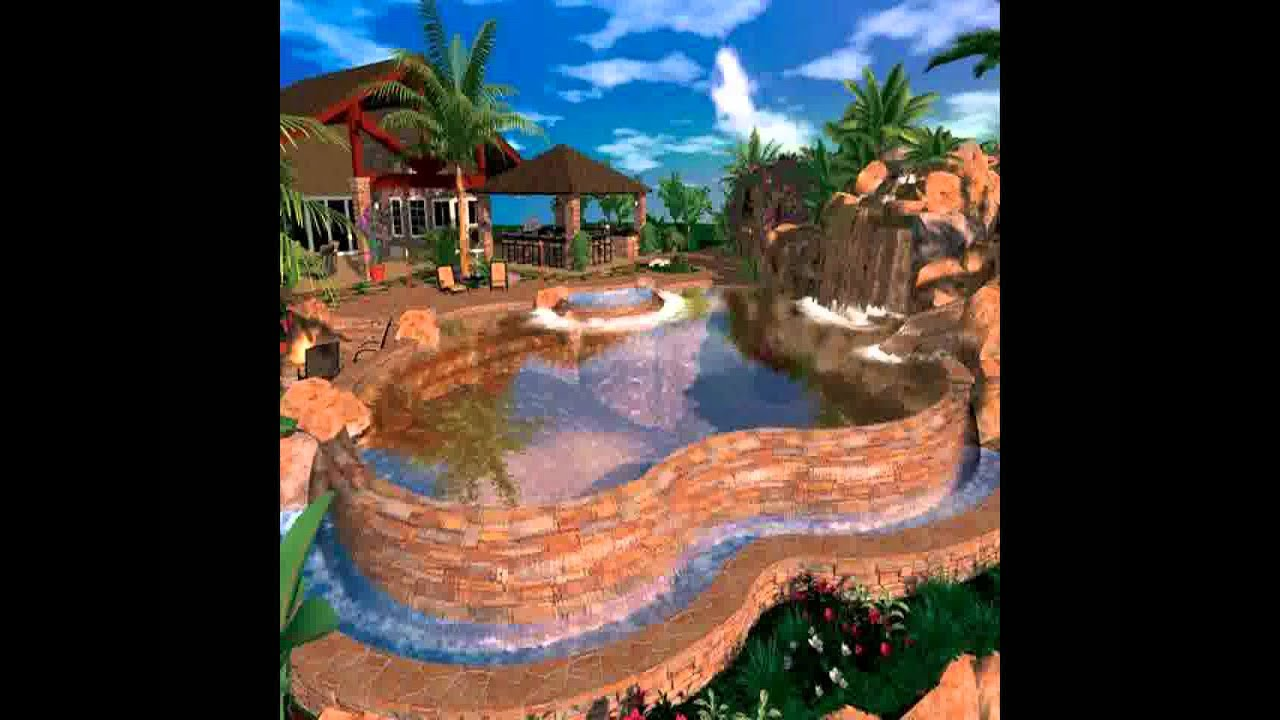 Tropical Pool Landscaping Ideas - YouTube