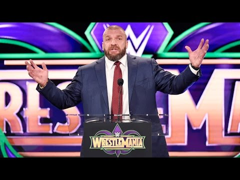 Triple H impersonates The Rock as he looks ahead to WrestleMania's return to New Orleans