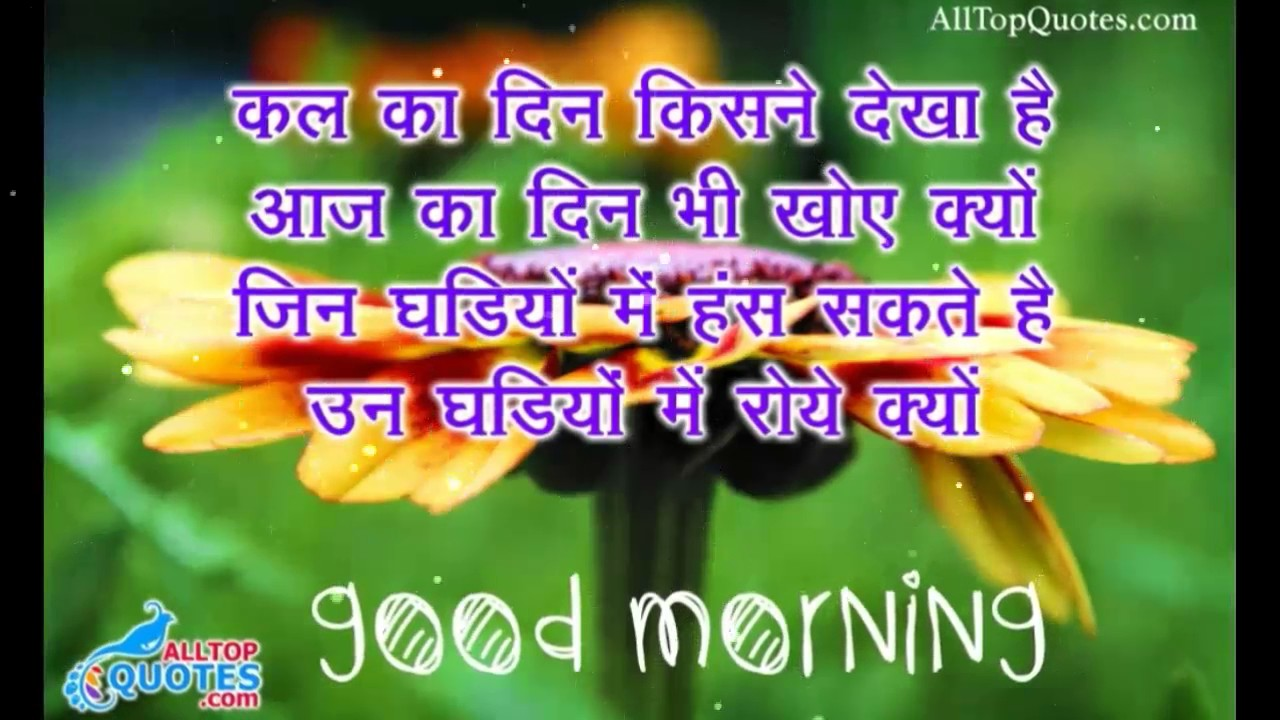 Good Morning Hindi Whatsapp Video Quotes Sms Greetings E