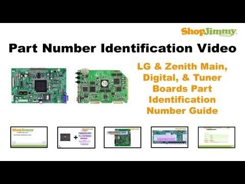 TV Repair Tutorial - Part Number Idenfication Guide for LG & Zenith Main, Digital, & Tuner Boards