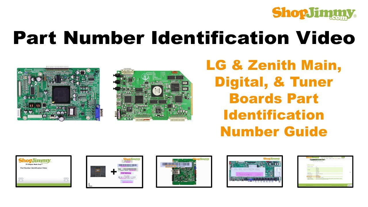 TV Repair Tutorial - Part Number Idenfication Guide for LG & Zenith Main,  Digital, & Tuner Boards