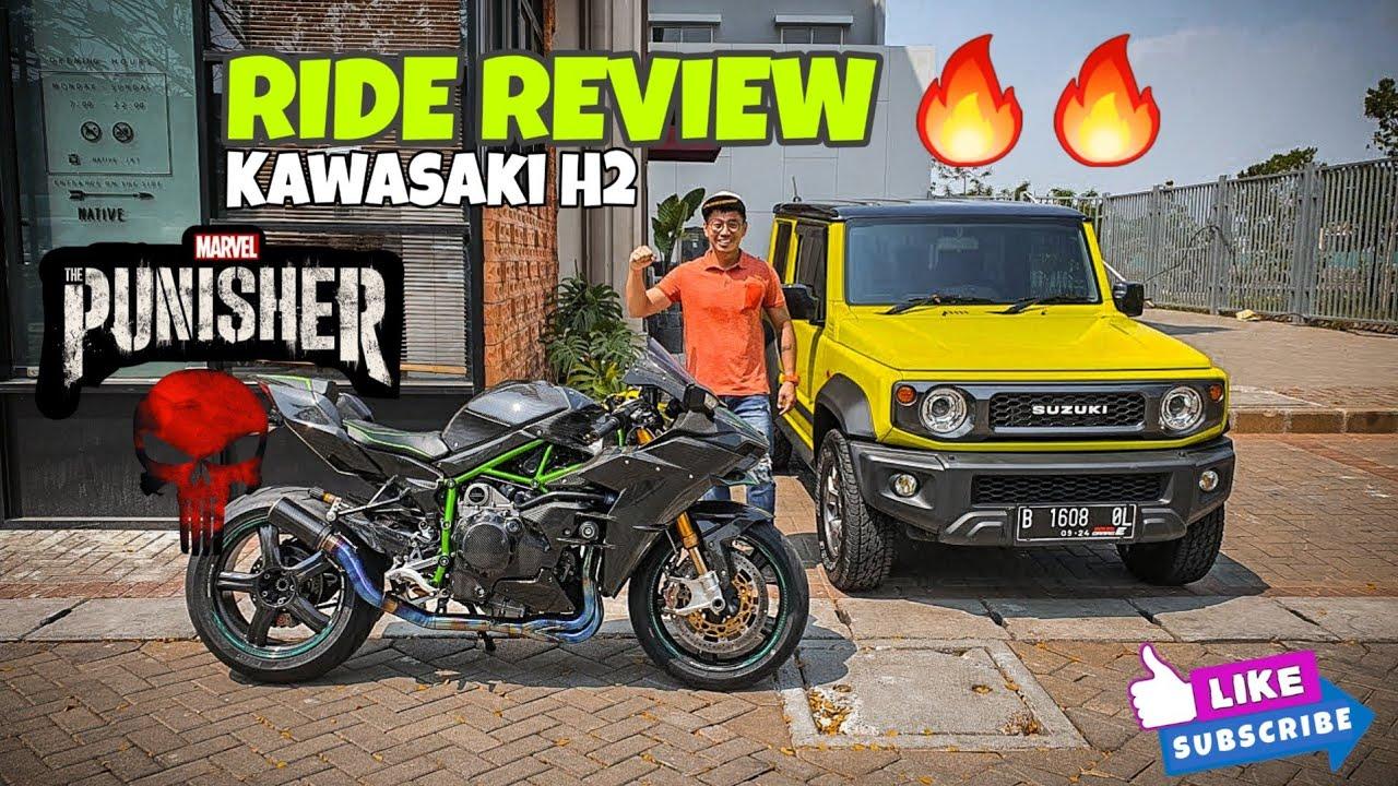 RIDE REVIEW SUPERBIKE KENCANG bermesin SUPERCHARGE Kawasaki H2 aka THE PUNISHER 🔥 [#ecclesia_autoTV]