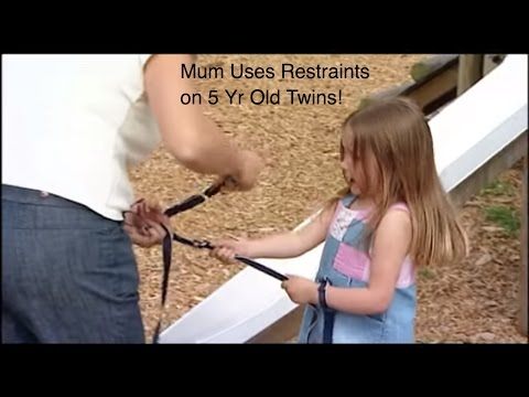 Mum Uses Restraints on 3 Yr Old Twin Girls | Supernanny
