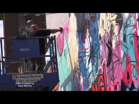 Cope 2 Painting Bowery Art Wall - Soho - video shot by Jane Marino