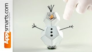 Driving Snowman Robot- make Ozobot costume with this simple crafts tutorial for kids