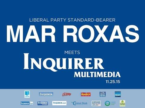 Mar Roxas meets Inquirer Multimedia - November 25, 2015