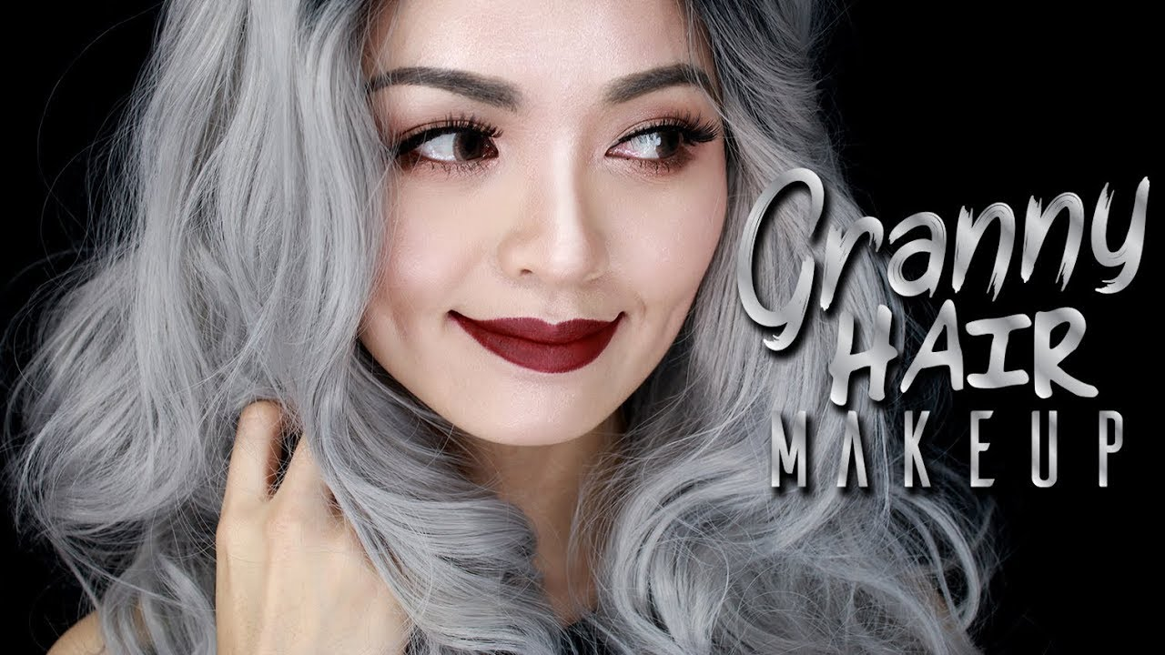 granny hair makeup