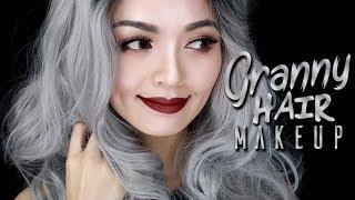 Granny Hair Makeup 👵 Makeup for Grey Hair