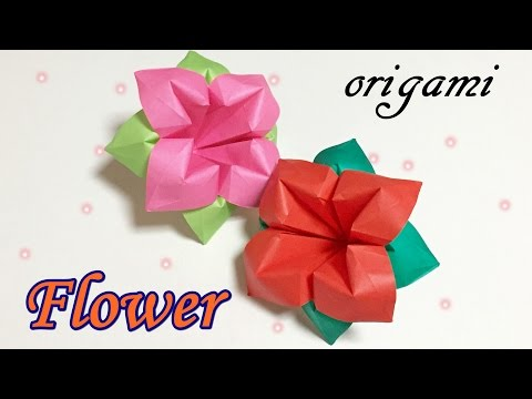 Origami flower easy but cool for beginners | Simple paper flowers DIY tutorial step by step