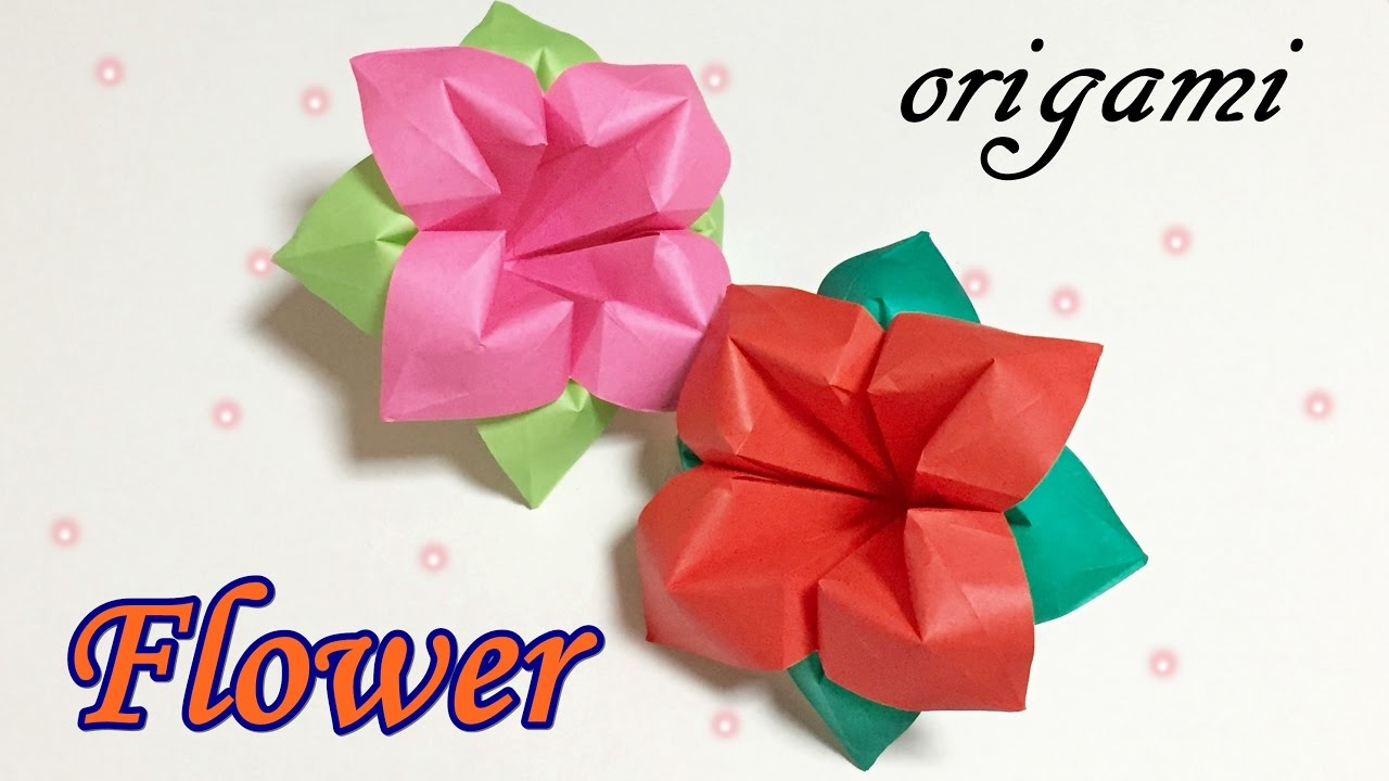 Origami Flower Easy But Cool For Beginners Simple Paper Flowers